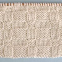 Wide Basket Weave Stitch Printable Knitting Pattern
