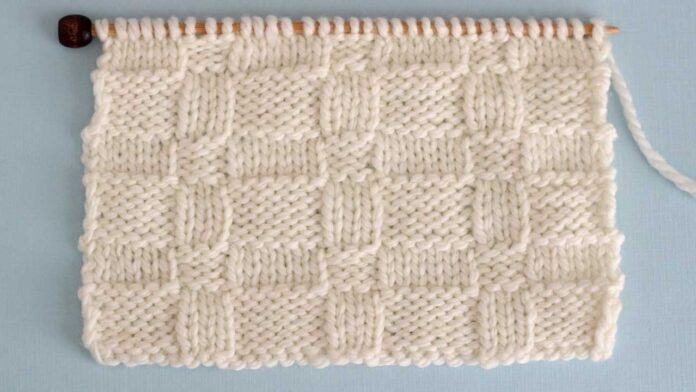Wide Basket Weave Stitch Knitting Pattern