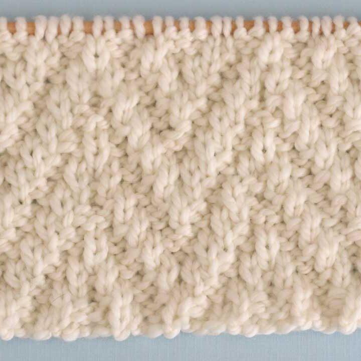 Chevron Rib Stitch Knitting Pattern