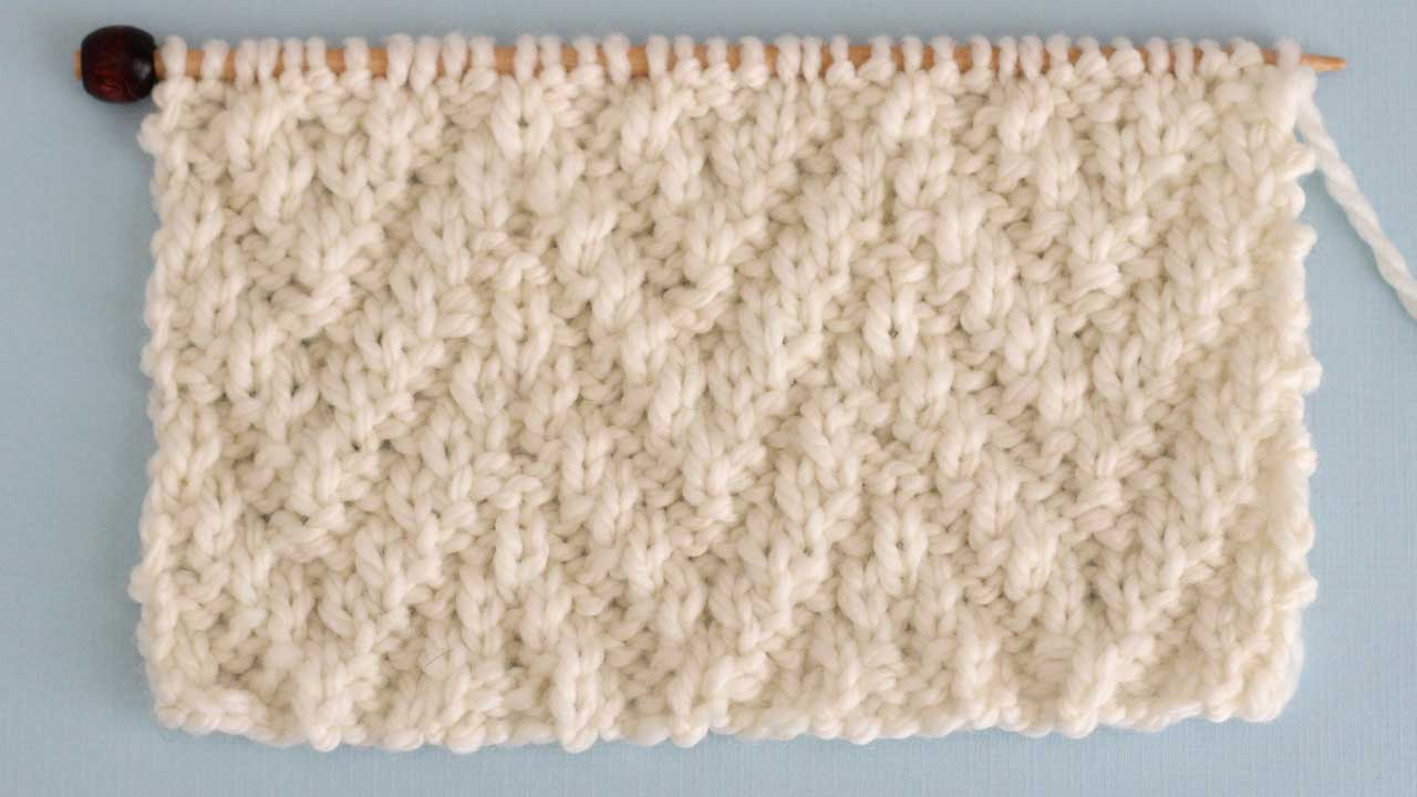 Chevron Rib Stitch Knitting Pattern