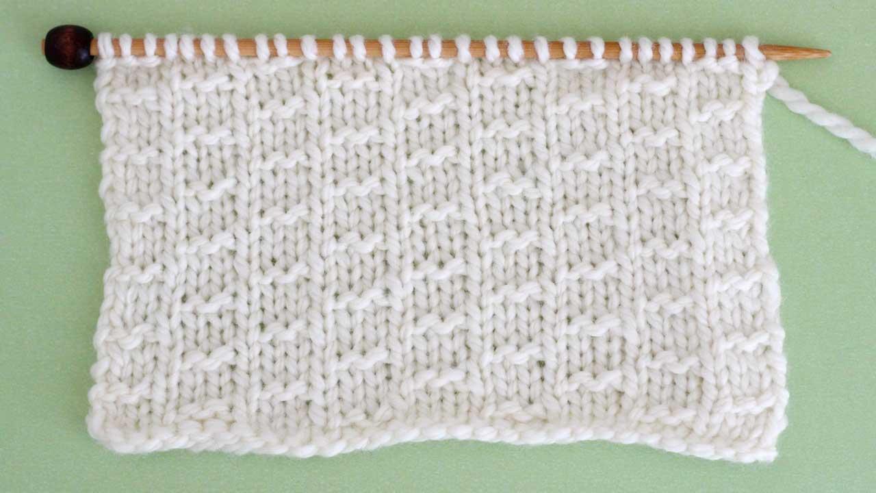 Double Fleck Stitch Knitting Pattern