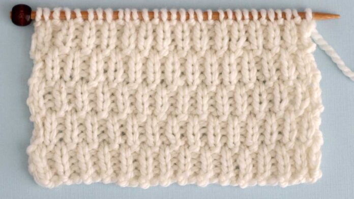 Long Raindrops Stitch Knitting Pattern