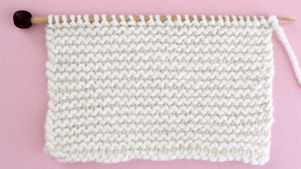 Garter Stitch Knitting Pattern