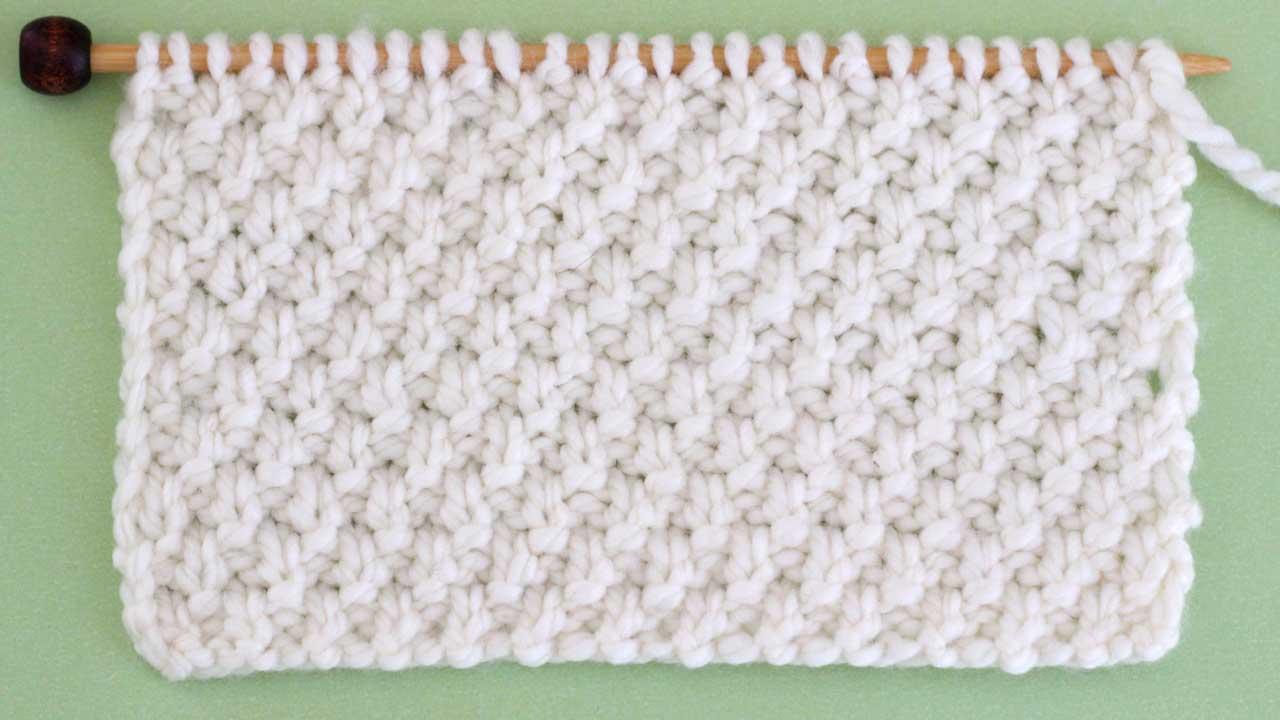 Irish Moss Stitch Knitting Pattern for Beginners | Studio Knit