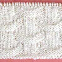 Basket Loop Stitch Printable Knitting Pattern