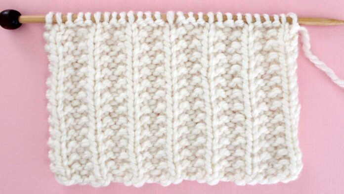 Seeded Rib Stitch Knitting Pattern