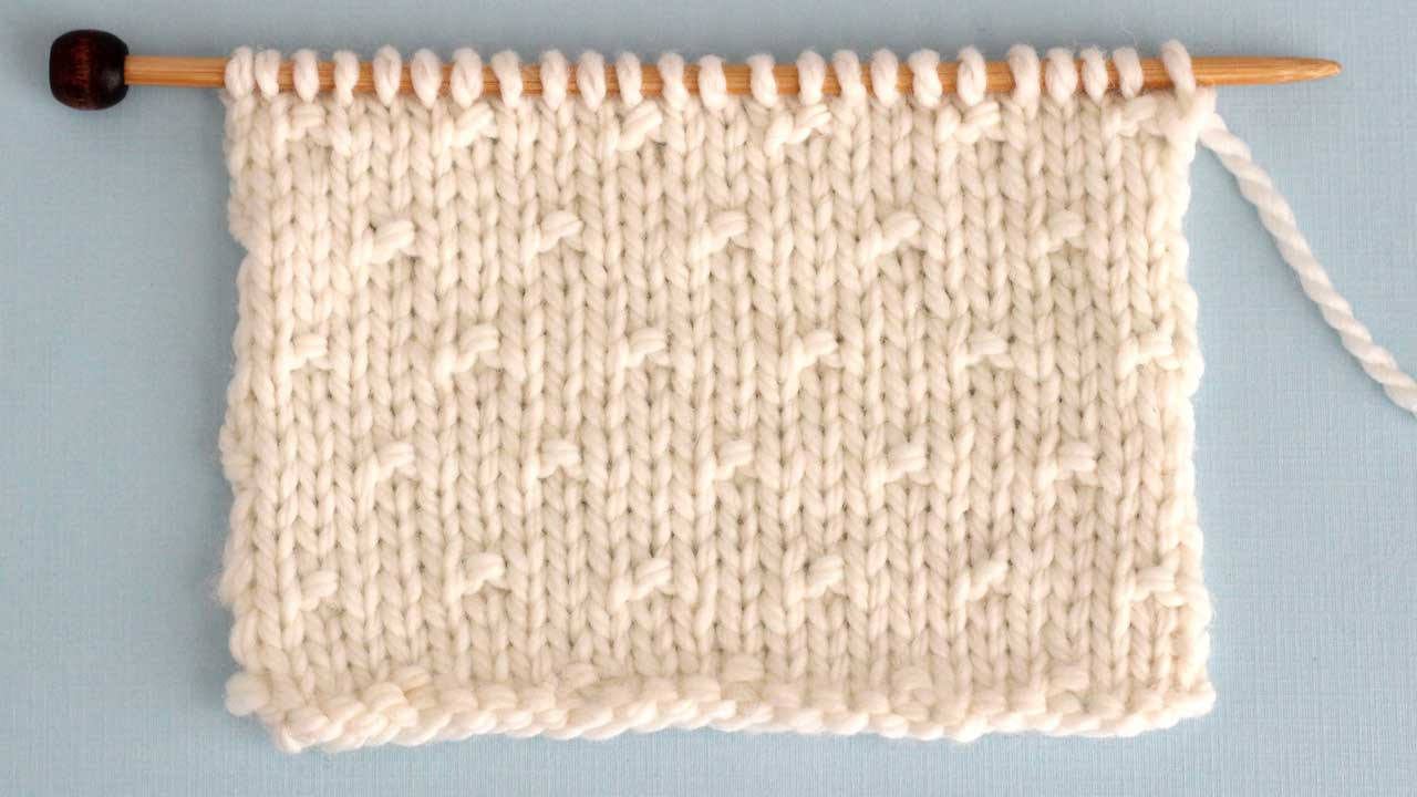 Simple Seed Stitch Knitting Pattern for Beginners
