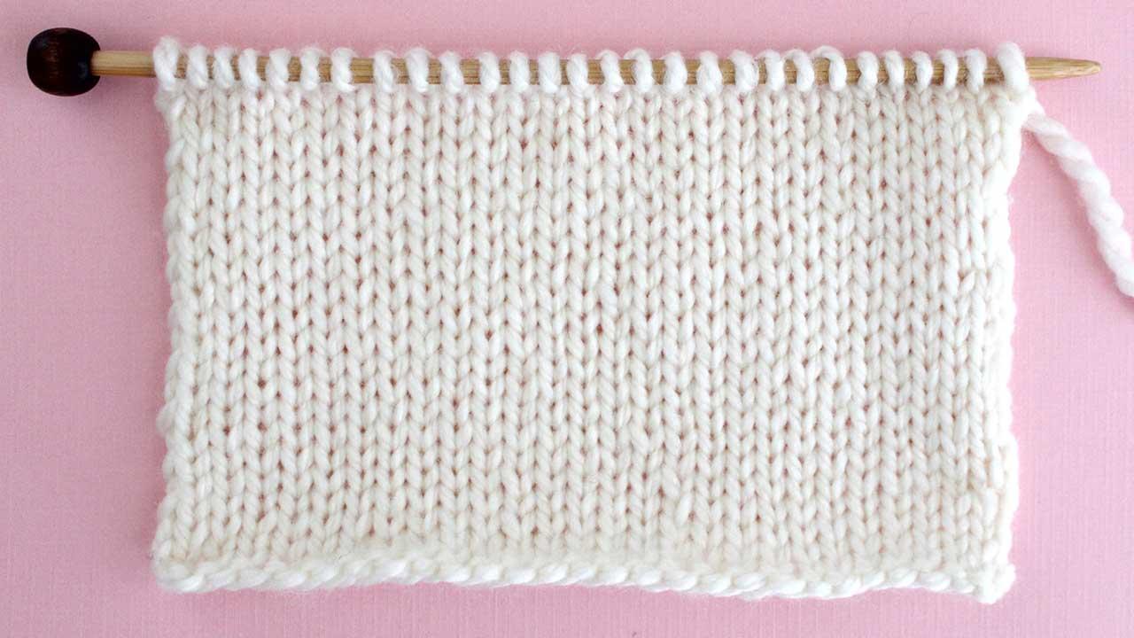 Stockinette Stitch Knitting Pattern