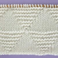Large Stacked Triangle Stitch Printable Knitting Pattern