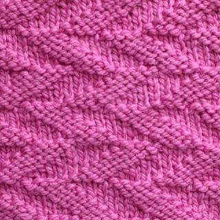 Cut Diagonals Stitch Knitting Pattern
