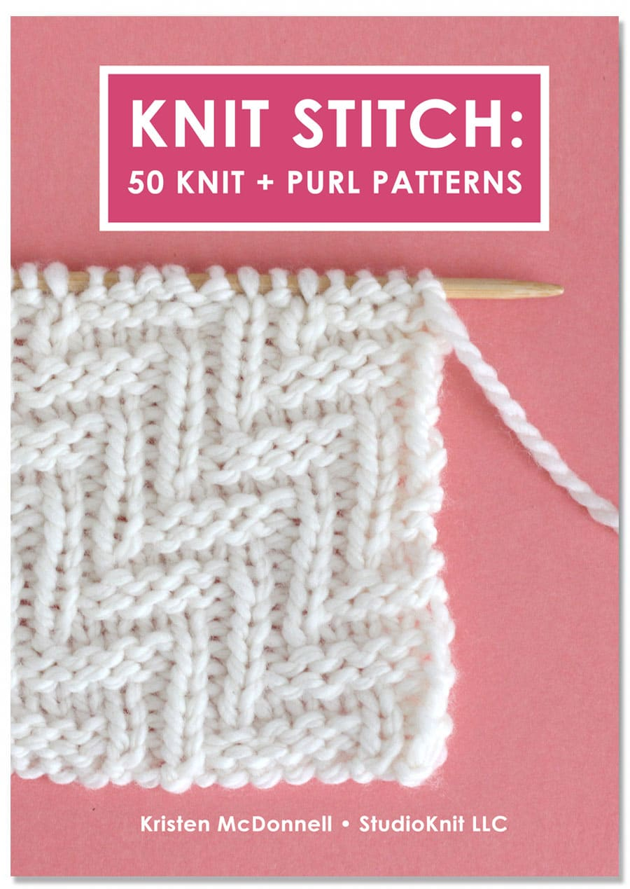 Knit Stitch: 50 Knit and Purl Patterns Book by Studio Knit