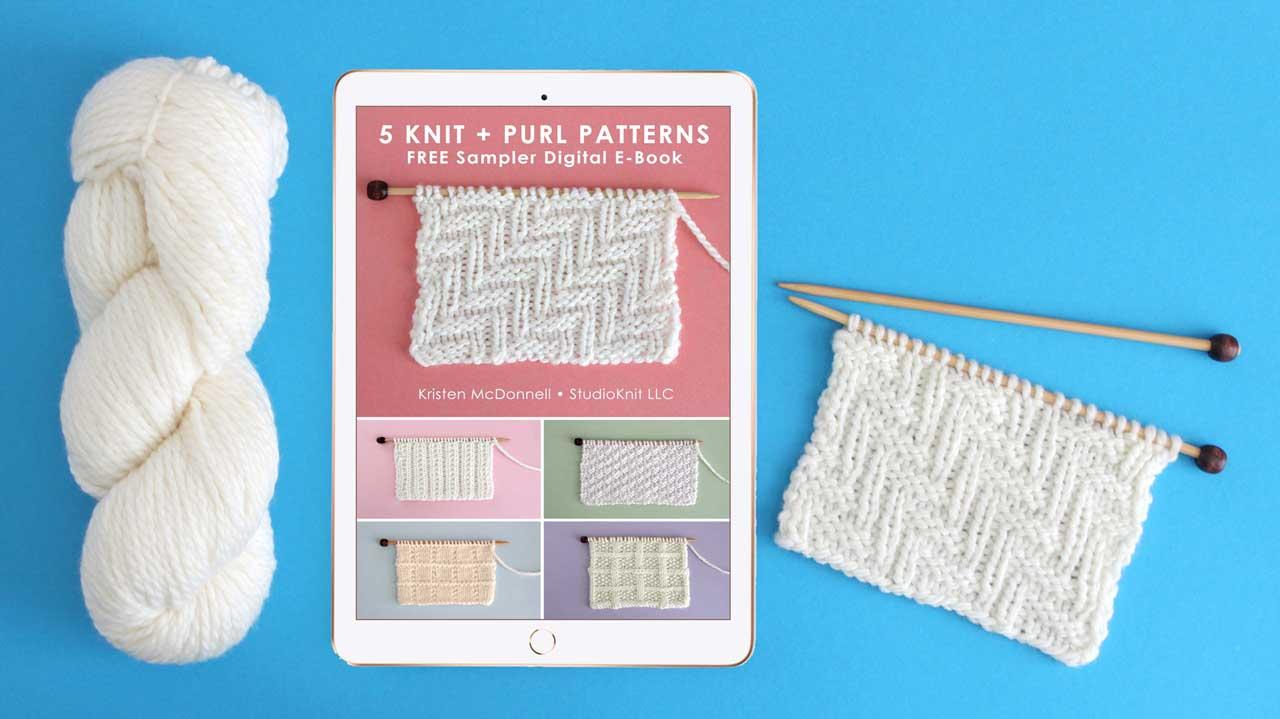 Knit Stitch: 50 Knit and Purl Pattern Books by Studio Knit