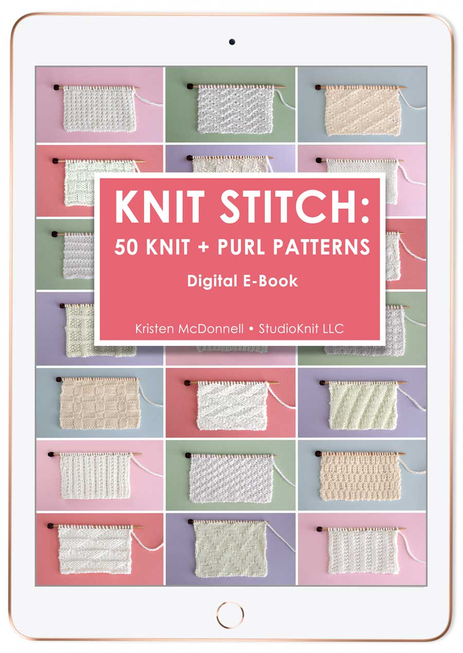 Knit Stitch Pattern E-Book by Studio Knit