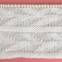 Embossed Leaf Stitch Printable Knitting Pattern