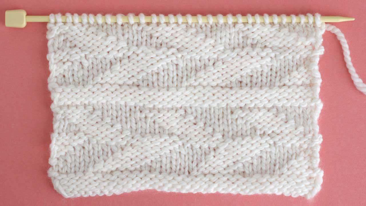 Embossed Leaf Stitch Knitting Pattern for Beginners