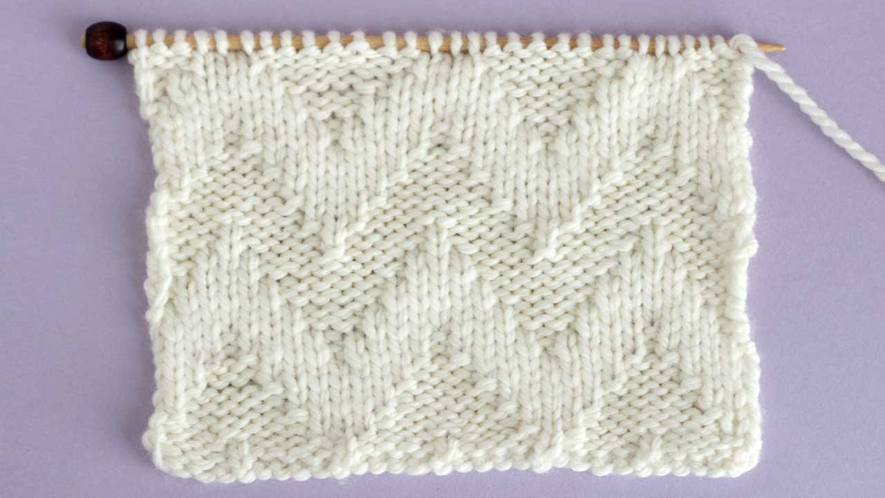Wide Chevron Zigzag Stitch Knitting Pattern