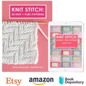 Knit Stitch Book: 50 Knit + Purl Patterns by Author Kristen McDonnell
