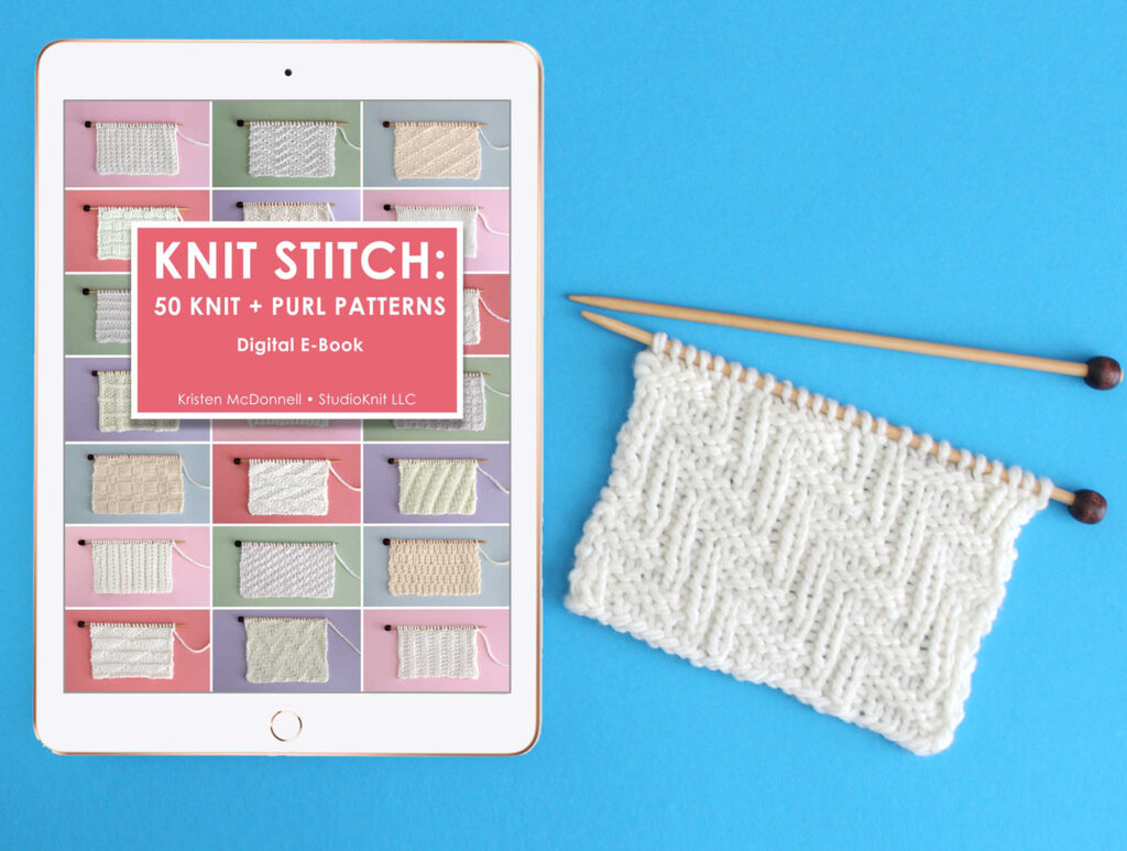 E-Book Knit Stitch: 50 Knit and Purl Pattern Books by Studio Knit