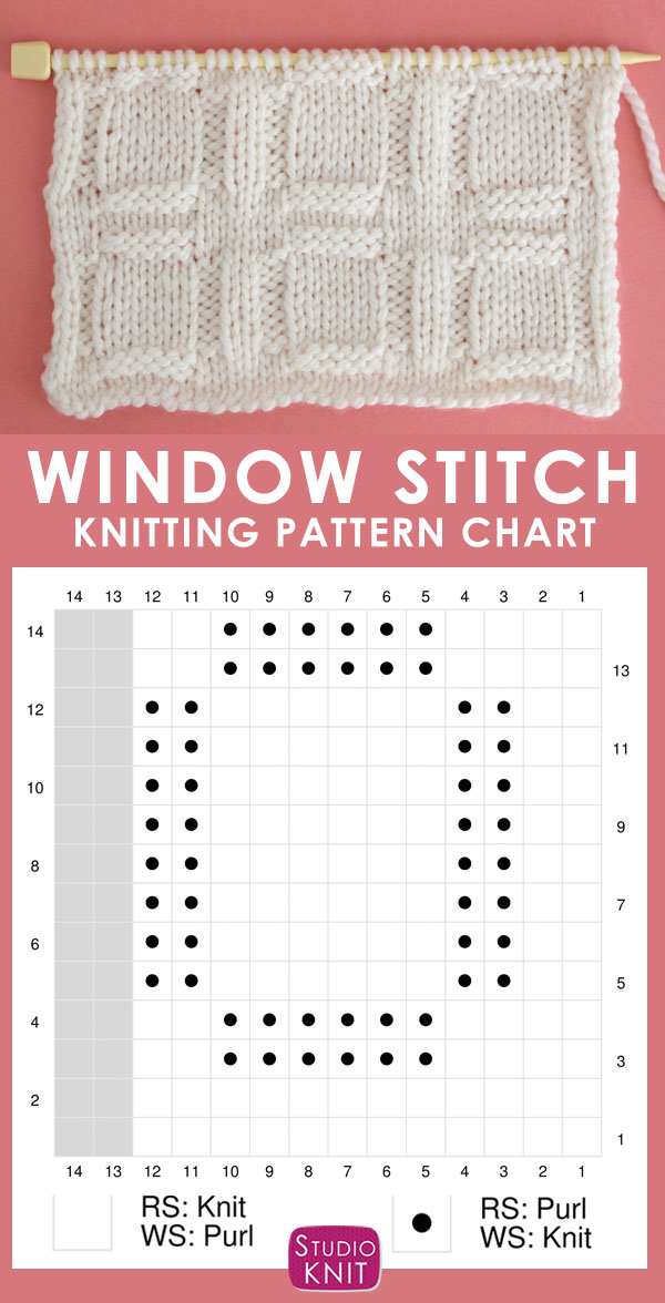 Window Stitch Knitting Pattern Chart