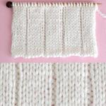 5x1 Flat Rib Stitch Knitting Pattern