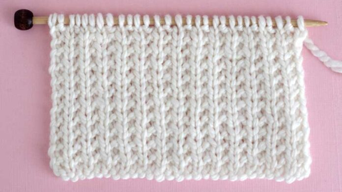 Broken Rib Stitch Knitting Pattern