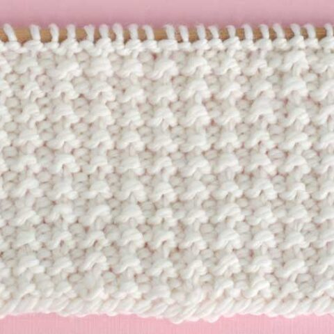 Sand Stitch Knitting Pattern Swatch
