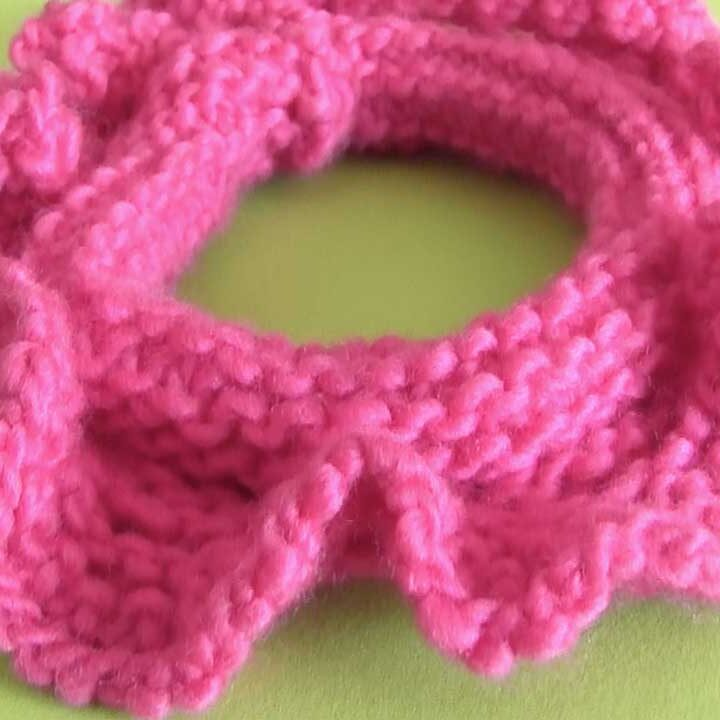 Hair Scrunchies Knitting Pattern