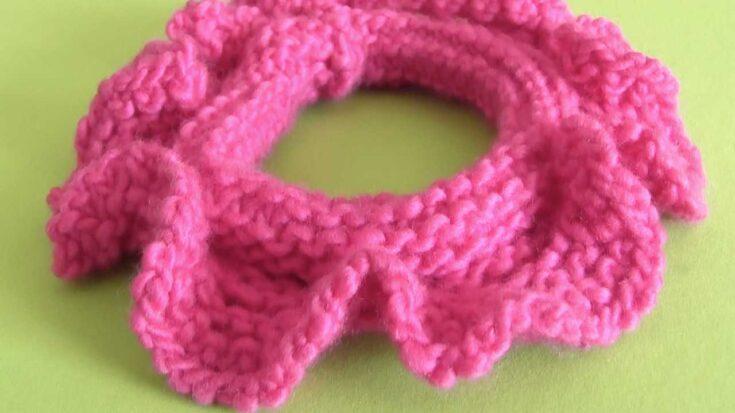 Hair Scrunchies Knitting Pattern with Ruffles