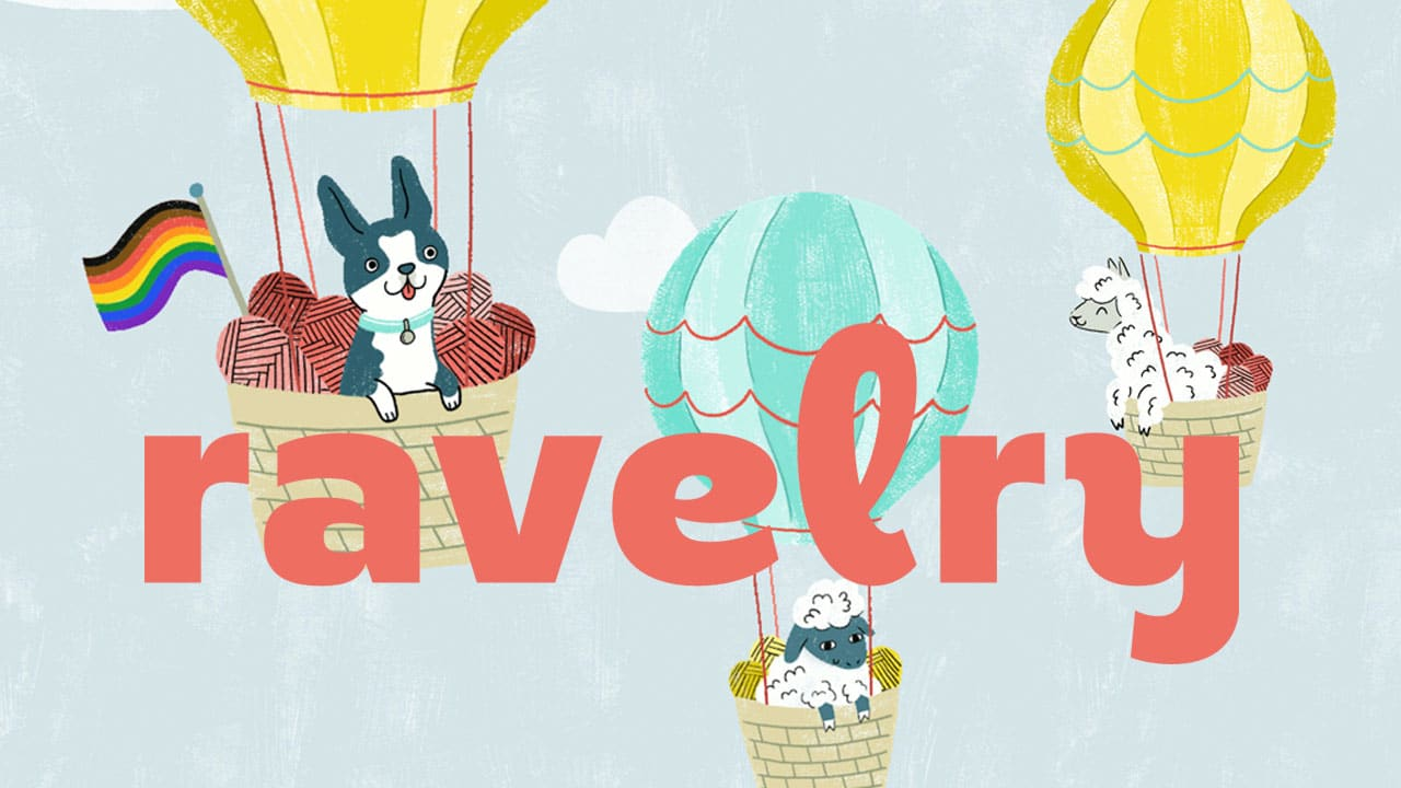 Ravelry Home Page Artwork with air balloons
