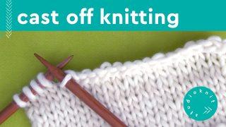 Cast Off Knitting Stitches with stockinette stitch knitting needles