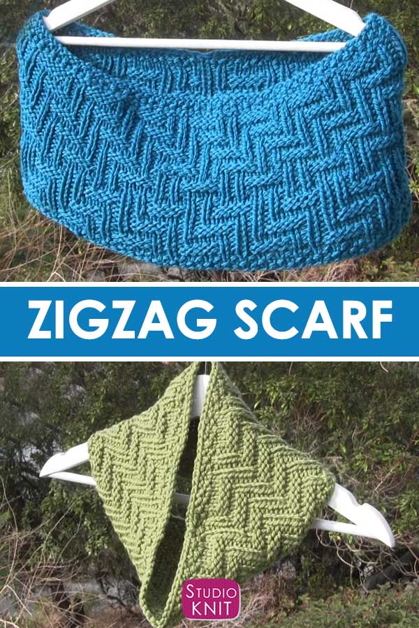 Scarf in Zigzag Texture Sizes
