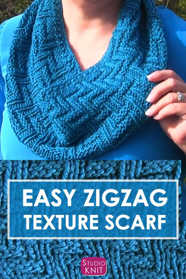 Knit a Scarf in Zigzag Texture