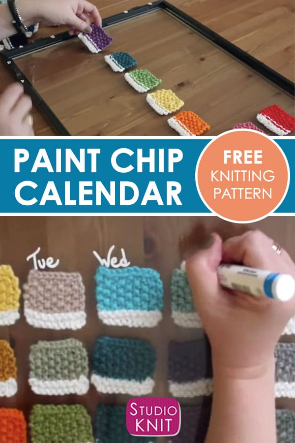 Free Knitting Pattern for Paint Chip Calendar