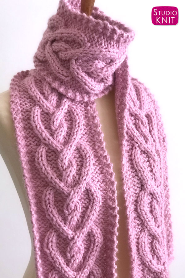 pinterest heart cable scarf 01