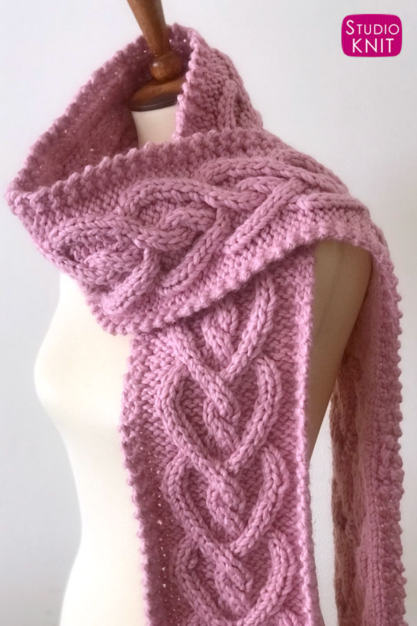 Knitting Pattern Heart Cable Knit by Studio Knit
