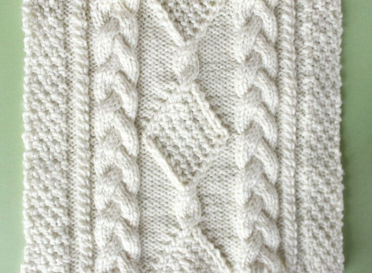 Diamond Hill Loop Celtic Cable Knitting Pattern
