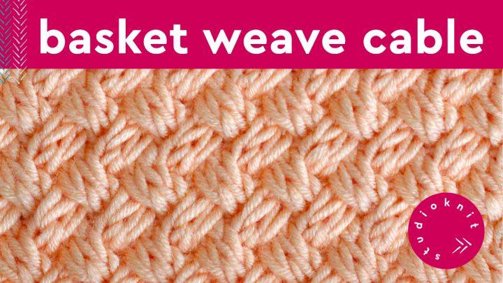 Diagonal Basket Weave Cable Stitch Knitting Pattern