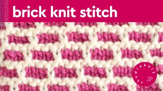 Brick Knit Stitch Pattern