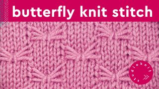 Butterfly Knit Stitch Pattern
