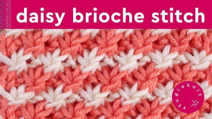 Daisy Brioche Knit Stitch Pattern