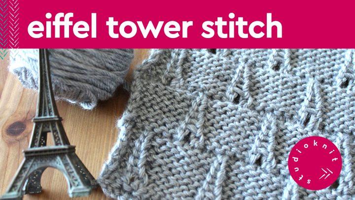 Eiffel Tower Knit Stitch Pattern