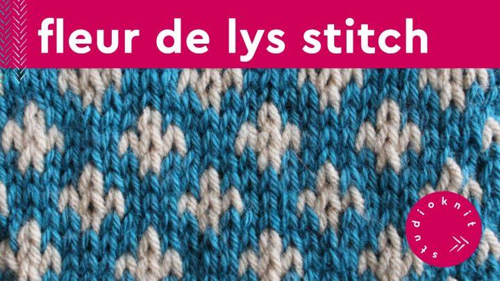 Fleur De Lys Stitch Knitting Pattern