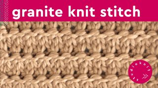 Granite Stitch Knitting Pattern