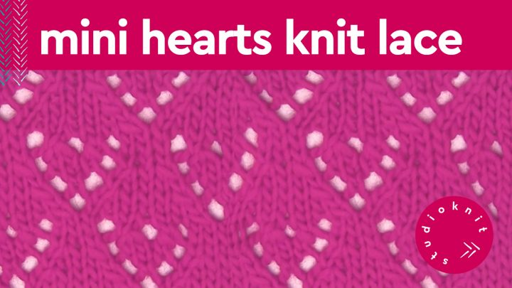 Mini Hearts Knit Stitch Pattern