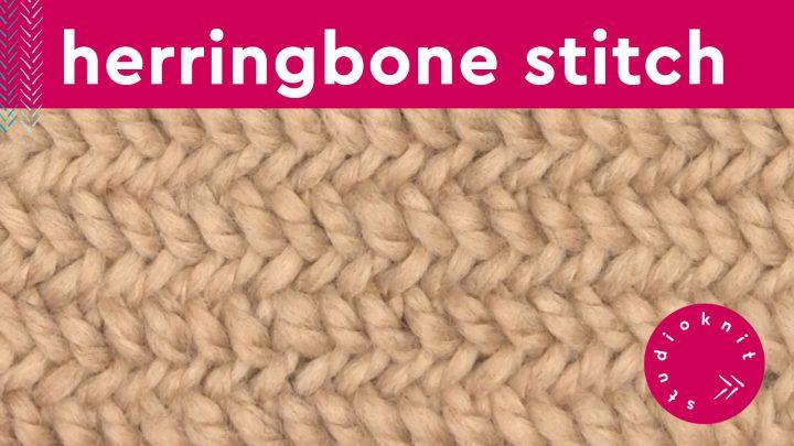 Herringbone Knit Stitch Pattern