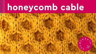 Honeycomb Cable Knit Stitch Pattern