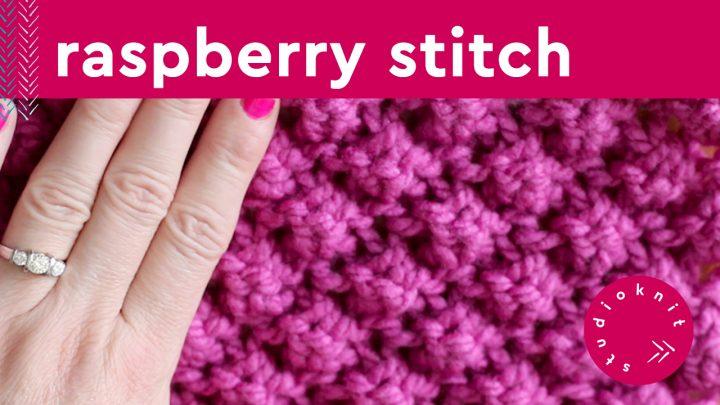 Raspberry Bobble Knit Stitch Pattern