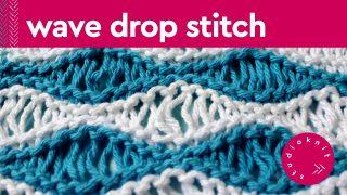Wave Drop Knit Stitch Pattern