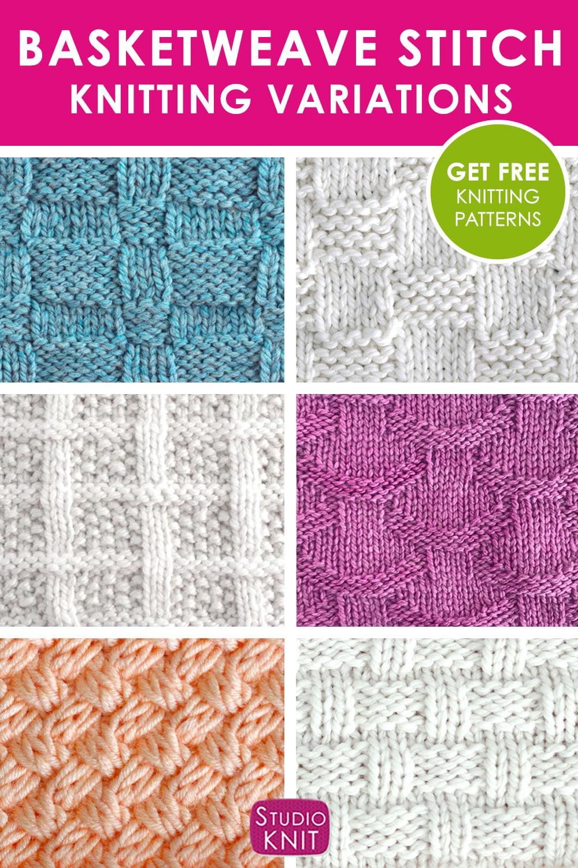 Knit Basketweave Stitch Variations