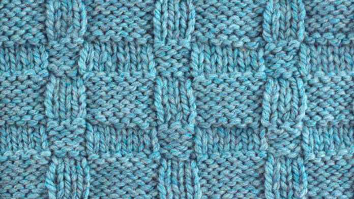 Wide Basket Weave Knit Stitch Pattern